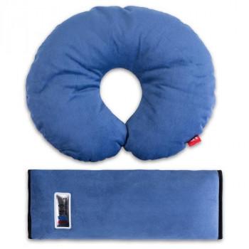 Комплект дорожный для сна синий