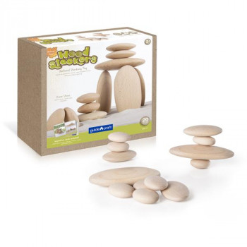 Набор блоков Natural Play Деревянный булыжник