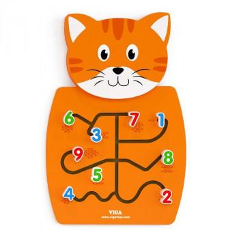 """Настенная игрушка бизиборд """"Кот с цифрами"""""""