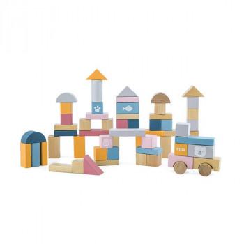 Набор строительных блоков PolarB 60 шт., 2,5 см