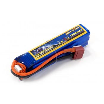 Аккумулятор для страйкбола Giant Power Li-Pol 11.1V 3S 1300mAh 25C 24х20х96мм...