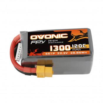 Ovonic Li-Pol 1300mAh 6S 22.2V 120C