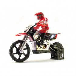 Мотоцикл 1:4 Himoto Burstout MX400 Brushed (красный)