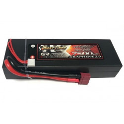 Аккумулятор Giant Power G2.0 Li-Pol 7500mAh 7.4V 2S 100C Hardcase 25x46x139...
