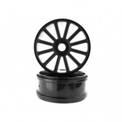1:8 Black Rims For Buggy 2P