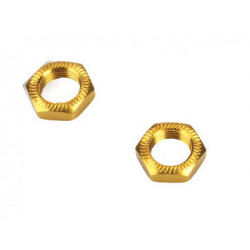 Team Magic Serrated Wheel Nut Gold 2p