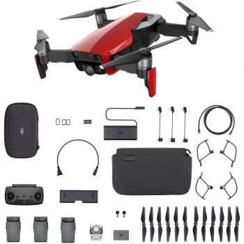 Квадрокоптер DJI Mavic Air Fly More Combo Красный