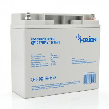 Аккумуляторная батарея MERLION AGM GP12170M5 12V 17Ah