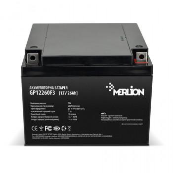Аккумуляторная батарея MERLION AGM GP12260F3 12 V 26 Ah