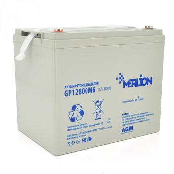 Аккумуляторная батарея MERLION AGM GP12800M8 12 V 80 Ah