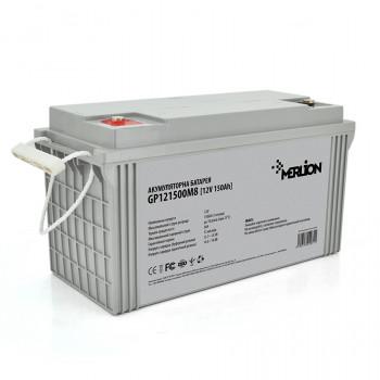 Аккумуляторная батарея MERLION AGM GP121500M8 12 V 150 Ah  White / Black