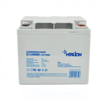 Аккумуляторная батарея MERLION GL12400M6 12 V 40 Ah  White