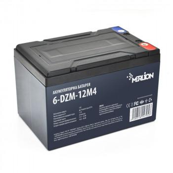 Тяговая аккумуляторная батарея AGM MERLION 6-DZM-12, 12V 12Ah M5 White / Black