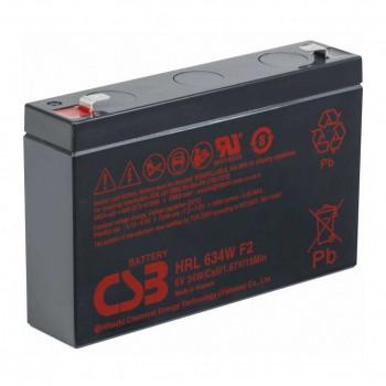 Аккумуляторная батарея CSB HRL634WF2, 6V 9Ah